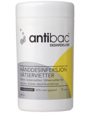 Antibac 75%+ våtservietter 70stk