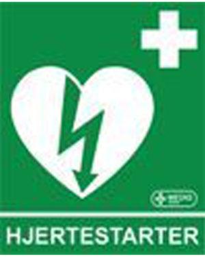 Klistremerke Hjertestarter etterlysende