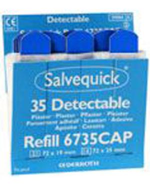 Salvequick plaster næringsmiddel blå 6735CAP