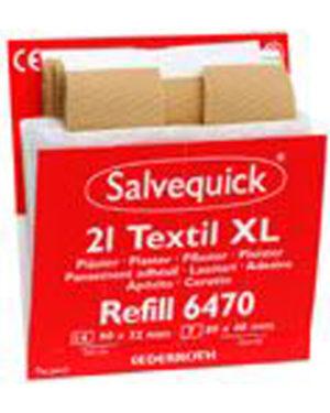 Salvequick plaster tekstil stor refill 21stk 6470
